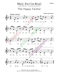 "Click to Enlarge: ""The Happy Farmer,"" Solfeggio Format"