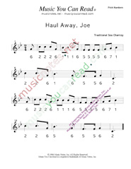 "Click to Enlarge: ""Haul Away, Joe,"" Pitch Number Format"