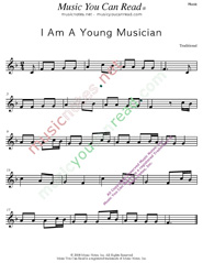 """I Am A Young Musician,"" Music Format"