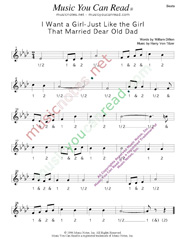 "Click to enlarge: ""I Want a Girl Just Like the Girl That Married Dear Old Dad,"" Beats Format"