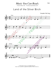 """Land of the Silver Birch,"" Music Format"