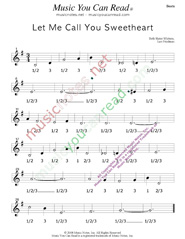 "Click to enlarge: ""Let Me Call You Sweetheart,"" Beats Format"