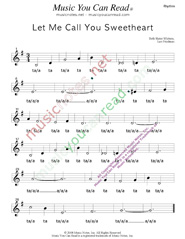 "Click to Enlarge: ""Let Me Call You Sweetheart,"" Rhythm Format"