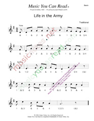 "Click to enlarge: ""Life in the Army,"" Beats Format"