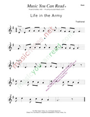 """Life in the Army,"" Music Format"