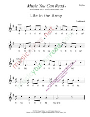 "Click to Enlarge: ""Life in the Army,"" Rhythm Format"