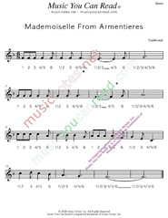 "Click to enlarge: ""Mademoiselle From Armentieres,"" Beats Format"