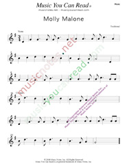 """Molly Malone,"" Music Format"