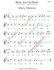 "Click to Enlarge: ""Molly Malone,"" Rhythm Format"