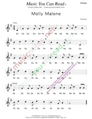 "Click to Enlarge: ""Molly Malone,"" Solfeggio Format"