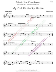 """My Old Kentucky Home,"" Music Format"