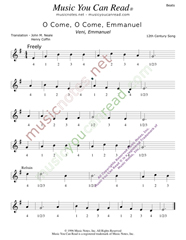 "Click to enlarge: ""O Cone, O Come, Emmanuel,"" Beats Format"