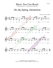"Click to Enlarge: ""Oh, My Darling, Clementine,"" Rhythm Format"