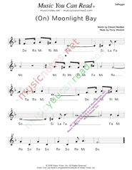 "Click to Enlarge: ""(On) Moonlight Bay,"" Solfeggio Format"