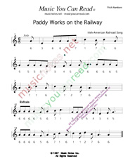 "Click to Enlarge: ""Paddy Works on the Railway,"" Pitch Number Format"