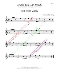 """Red River Valley,"" Music Format"