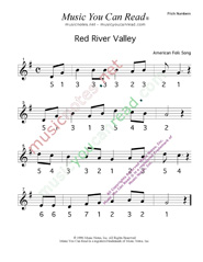 "Click to Enlarge: ""Red River Valley,"" Pitch Number Format"