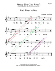 "Click to Enlarge: ""Red River Valley,"" Rhythm Format"