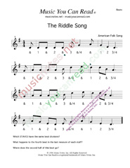 "Click to enlarge: ""The Riddle Song,"" Beats Format"