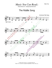 """The Riddle Song,"" Music Format"