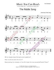 "Click to Enlarge: ""The Riddle Song,"" Pitch Number Format"