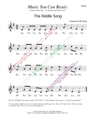 "Click to Enlarge: ""The Riddle Song,"" Solfeggio Format"