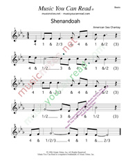 "Click to enlarge: ""Shenandoah,"" Beats Format"
