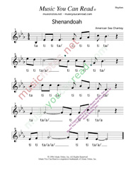 "Click to Enlarge: ""Shenandoah,"" Rhythm Format"