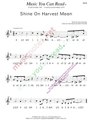 "Click to enlarge: ""Shine On Harvest Moon,"" Beats Format"