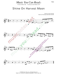 """Shine On Harvest Moon,"" Music Format"