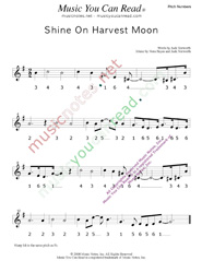 "Click to Enlarge: ""Shine On Harvest Moon,"" Pitch Number Format"