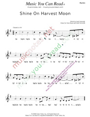 "Click to Enlarge: ""Shine On Harvest Moon,"" Rhythm Format"