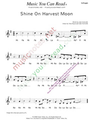 "Click to Enlarge: ""Shine On Harvest Moon,"" Solfeggio Format"
