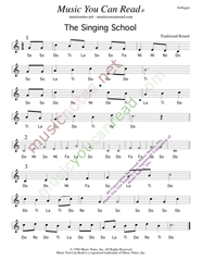 "Click to Enlarge: ""The Singing School,"" Solfeggio Format"