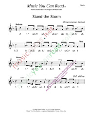 "Click to enlarge: ""Stand the Storm,"" Beats Format"