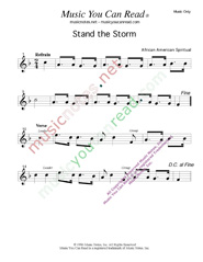 """Stand the Storm,"" Music Format"