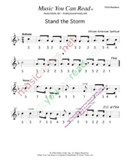 "Click to Enlarge: ""Stand the Storm,"" Pitch Number Format"