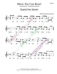 "Click to Enlarge: ""Stand the Storm,"" Rhythm Format"