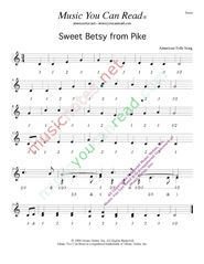 "Click to enlarge: ""Sweet Betsy from Pike,"" Beats Format"