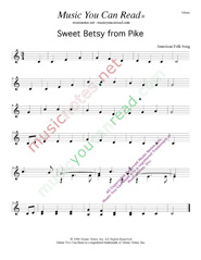 """Sweet Betsy from Pike,"" Music Format"