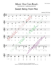 "Click to Enlarge: ""Sweet Betsy from Pike,"" Pitch Number Format"
