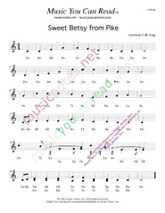 "Click to Enlarge: ""Sweet Betsy from Pike,"" Solfeggio Format"