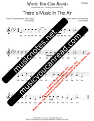 "Click to Enlarge: ""There's Music In The Air"" Solfeggio Format"