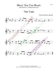 """This Train,"" Music Format"