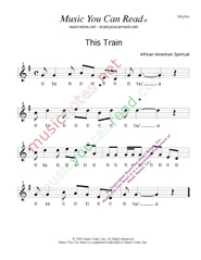 "Click to Enlarge: ""This Train,"" Rhythm Format"