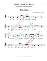 "Click to Enlarge: ""This Train,"" Solfeggio Format"
