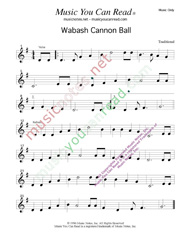 """Wabash Cannon Ball,"" Music Format"