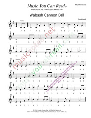 "Click to Enlarge: ""Wabash Cannon Ball,"" Pitch Number Format"