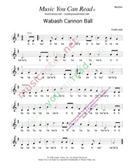 "Click to Enlarge: ""Wabash Cannon Ball,"" Rhythm Format"