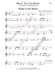 """Wade In the Water,"" Music Format"